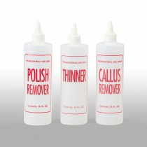 16 oz Natural HDPE Cylinder, Polish Remover