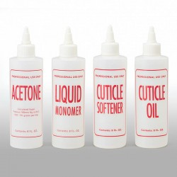 16CP-CO: 16 oz Natural HDPE Cylinder, Cuticle Oil
