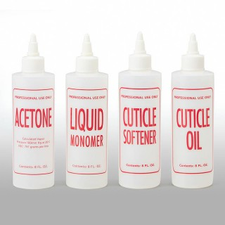 16 oz Natural HDPE Cylinder, Cuticle Oil