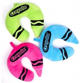 CNP-555: Crayola Neck Pillow 3 Asst. Colors (TM)