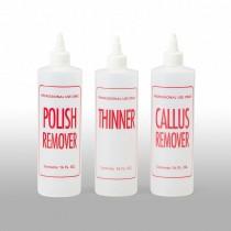 16 oz Natural HDPE Cylinder, Polish Remover