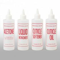 8 oz Natural HDPE Cylinder, Liquid