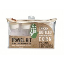 CRK-4: Compostable Corn Resin 4pc, 3 oz. Bottle Kit