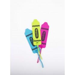 CLT-554: Crayola Luggage Tag 3 Asst. Colors (TM)